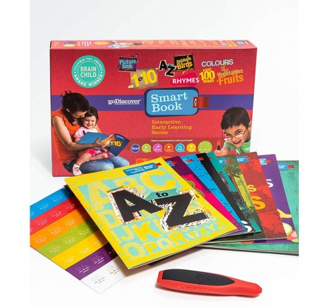Go Discover Interactive Early Learning Smart Book Learning Toys for Kids Age 2Y+
