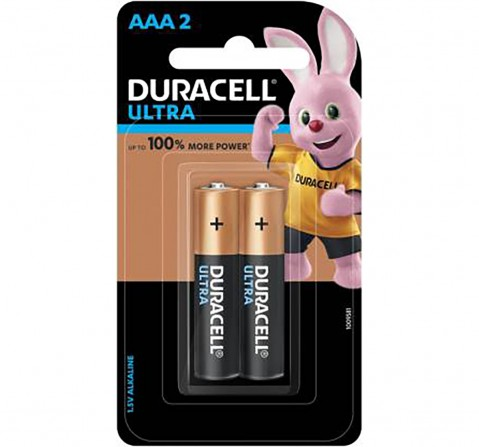 Duracell Ultra AAA Batteries - Pack of 2 Essentials for Kids age 3Y+