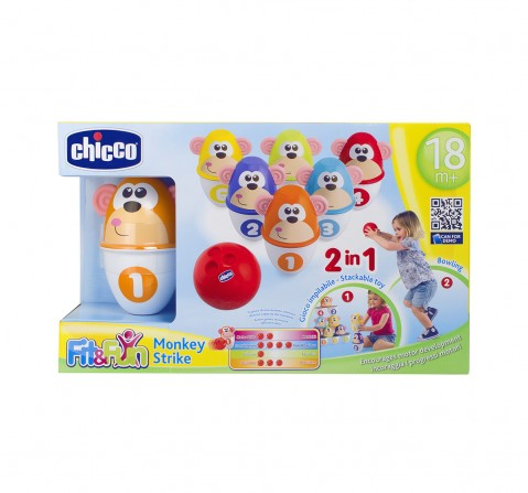 Chicco Monkey Strike Bowling Set for Kids age 18M +