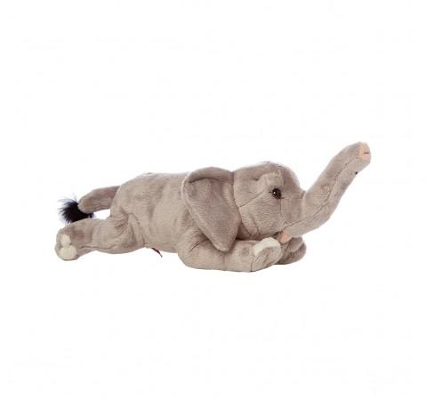 Hamleys Lying Animal Elephant Soft Toy (Gray) Animals & Birds for Kids age 0M+ - 10 Cm (Grey)