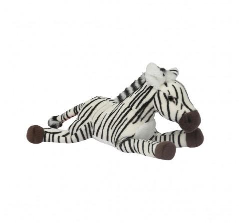 Hamleys Lying Zebra Soft Toy (Black/White) Animals & Birds for Kids age 0M+ - 5 Cm