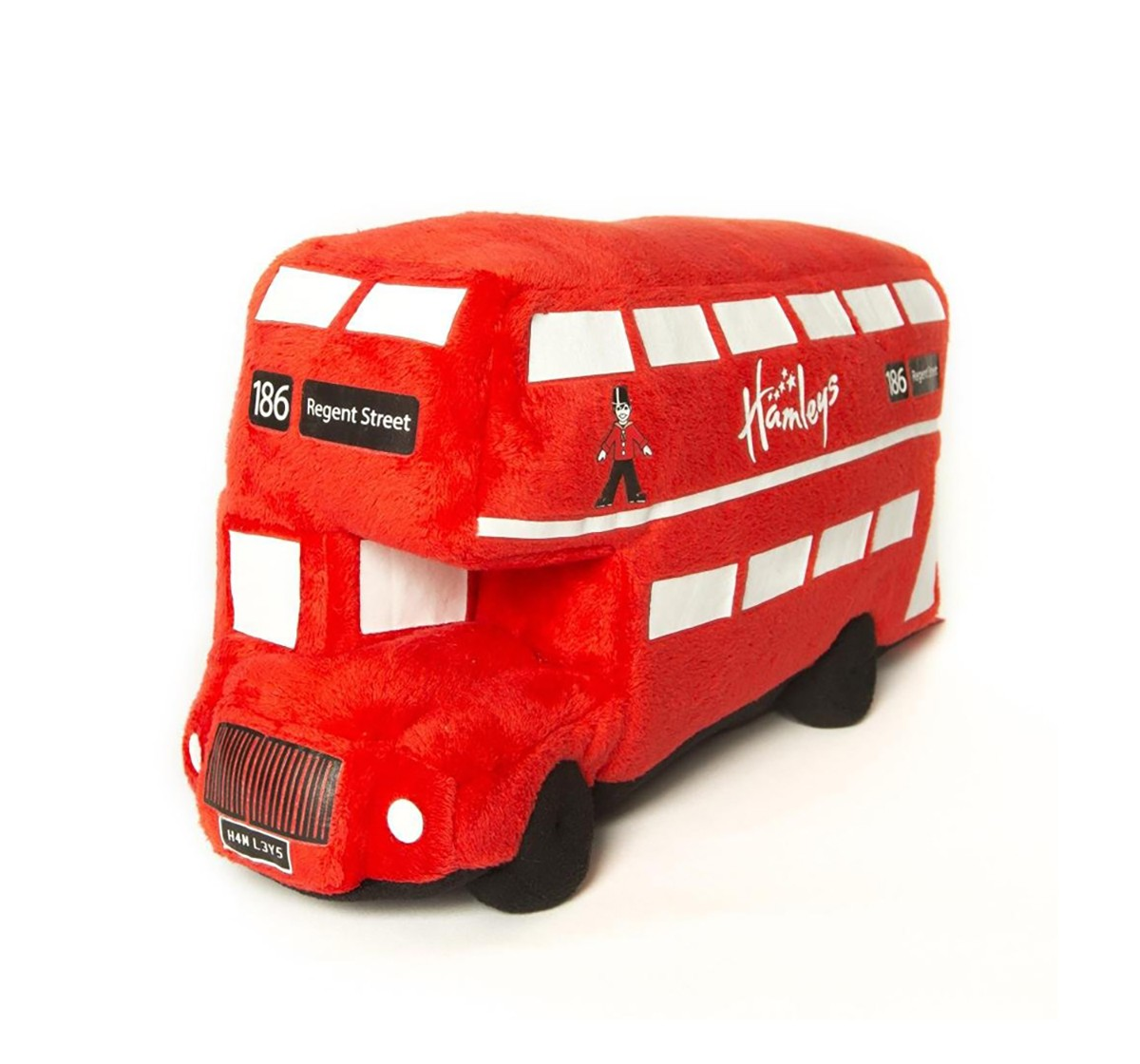 Hamleys London Bus (Red) Quirky Soft Toys for Kids age 3Y+ - 12 Cm