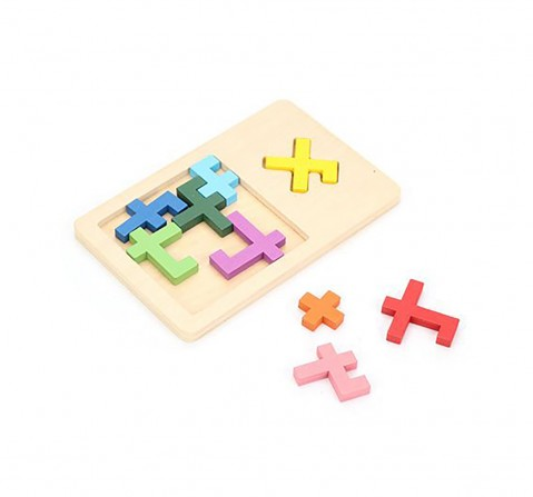 Mi Wooden Reunion Puzzle, Multi Color Games for Kids age 6Y+