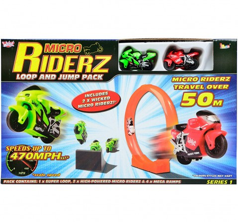 Wicked Micro Riderz Loop And Jump Pack Tracksets & Train Sets for Kids age 3Y+