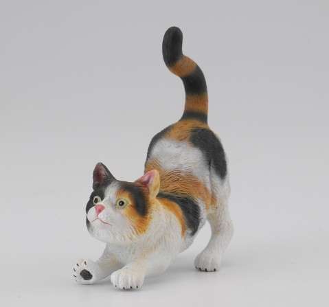 Collecta -3-Colour House Cat - Stretching, 3Y+