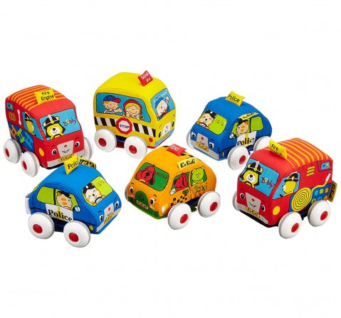 K'S Kids Pull-Back Autos, Multi Color Early Learner Toys for Kids age 1Y+