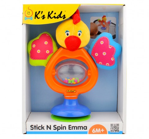 K'S Kids Stick N Spin Emma, Multi Color New Born for Kids age 6M+