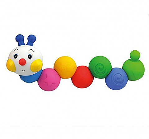 K'S Kids Popbo Blocks - Chain-An-Inchworm, Multi Color Early Learner Toys for Kids age 1Y+