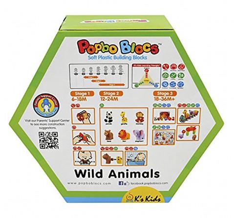 K'S Kids Popbo Blocks - Wild Animals Bath Toys & Accessories for Kids age 12M+