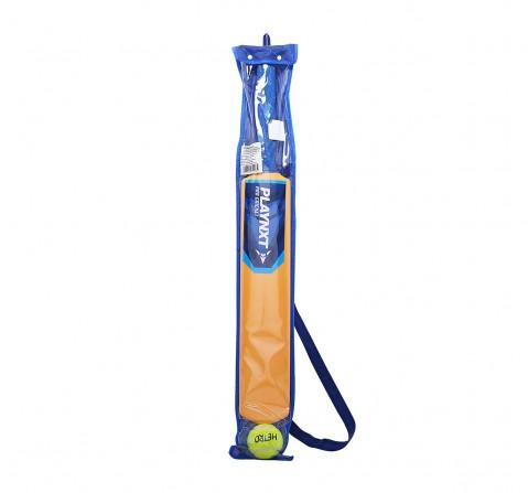 Playnxt Pro Cricket Bat No. 4 Outdoor Sports for Boys age 8Y+ (Orange)