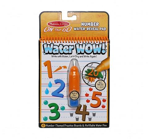 Melissa & Doug Water Wow Numbers, Multi Color DIY Art & Craft Kits for Kids age 3Y+ (Orange)