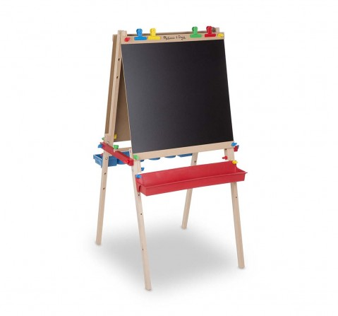 Melissa & Doug White Deluxe Wooden Standing Art Easel Activity Table & Boards for Kids age 3Y+
