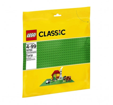 Lego Classic Baseplate Supplement 10700 (Multi Color) Blocks for Kids age 4Y+ (Green)