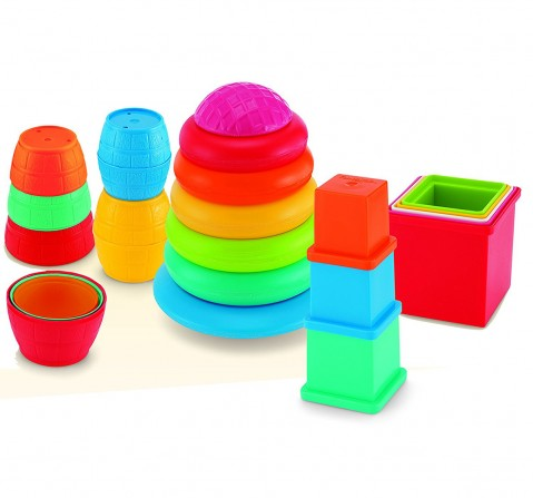 Giggles Pull Stack 'N Link Toy Set New Born for Kids age 12M+