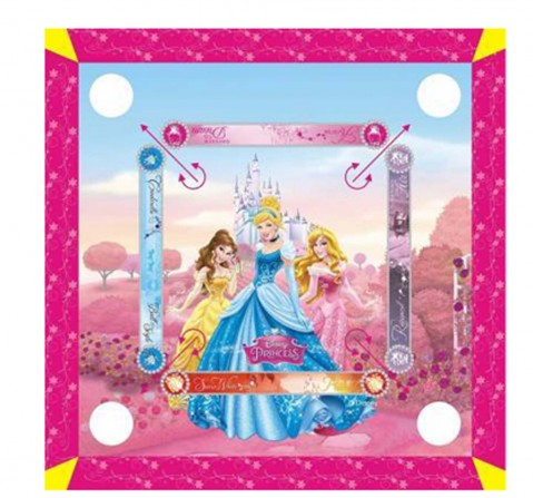 I Toys Disney Princess Carrom Board with Carrom Coins Indoor Sports for Kids age 3Y+