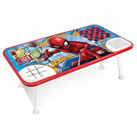 IToys Marvel Spiderman Ludo game table for kids, Unisex, 4Y+(Multicolour)