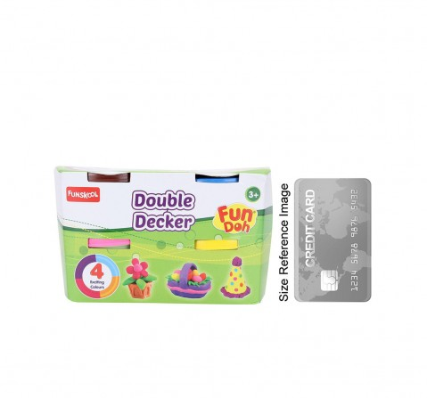 Fun Dough Double Decker Pack Of 4 Clay & Dough for Kids Age 3Y+