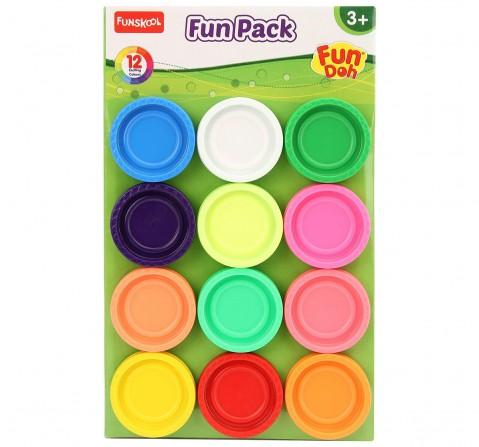 Fun Dough Fun Pack - 12 Colors Clay & Dough for Kids Age 3Y+