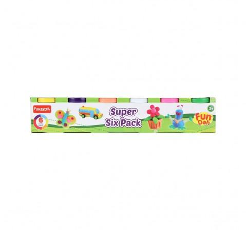 Fun Dough Super Six Clay & Dough for Kids Age 3Y+