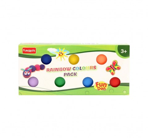 Fun Dough Rainbow Colors Pack Of 7 Clay & Dough for Kids Age 3Y+