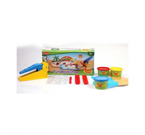 Fun Dough Fun Workshop - Multi Color Clay & Dough for Kids Age 3Y+
