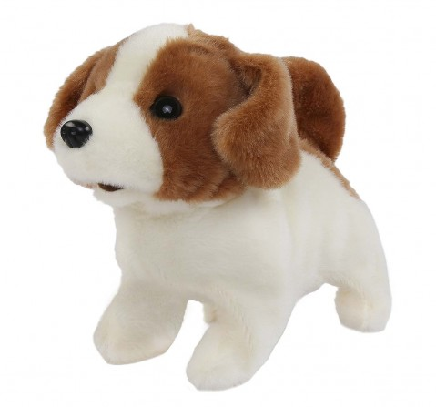 Rowan Movers & Shakers Baby Jack Russell Plush Soft Dog Interactive Toys for Kids age 3Y+ - 13.4 Cm