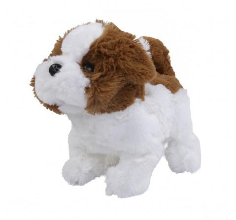 Rowan Baby Saint Bernard Interactive Plush Soft Dog for Kids age 3Y+ - 15 Cm (White And Brown)