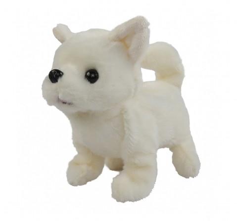 Rowan Baby Chihuahua Interactive Plush Soft Dog for Kids age 3Y+ - 15 Cm (White)