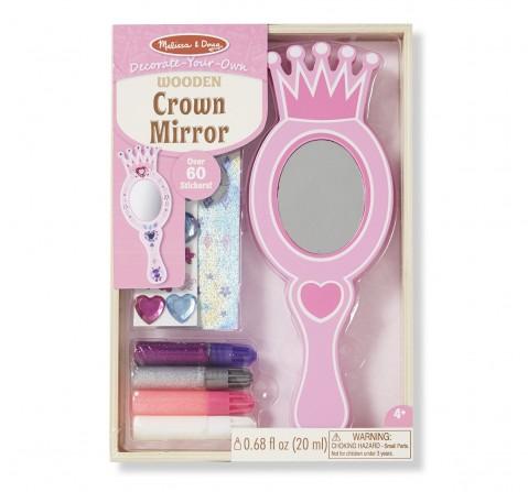 Melissa & Doug Dyo Crown Mirror, Multi Color DIY Art & Craft Kits for Kids age 3Y+