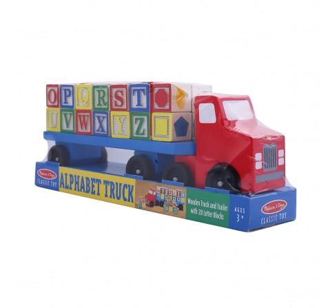 Melissa & Doug Alphabet Truck Wooden Toys for Kids age 3Y+