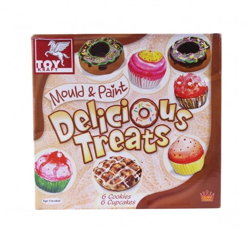 Toy Kraft Mould And Paint Delicious Treats, Multi Color DIY Art & Craft Kits for Kids age 5Y+
