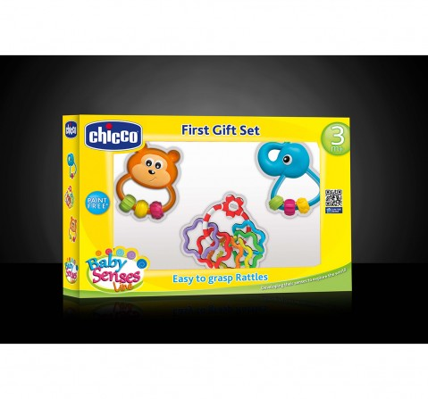 Chicco First Play Set of 3Pc Rattles for Kids age 3M+