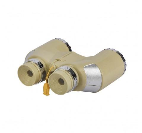 Comdaq Grey Binoculars With Compass, Science Equipments for Kids age 5Y+