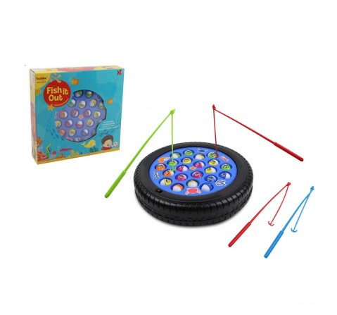 Comdaq Rowan Rotating Musical Fishing Games for Kids age 3Y+