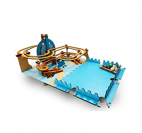Smartivity Roller Coaster Marble Slide :  Stem, Learning, Educational and Construction Activity Toy Gift for Kids age 6Y+ (Multi-Color)