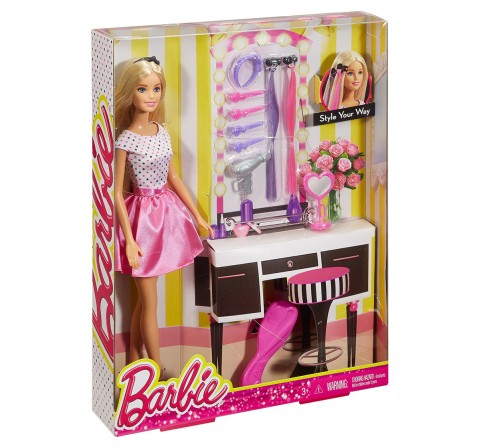Barbie Doll With Hair Accessories Playset Dolls & Accessories for Kids age 3Y+