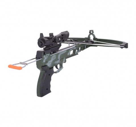 Comdaq Green Cross Bow Camoflage, Small Indoor Sports for Kids age 6Y+