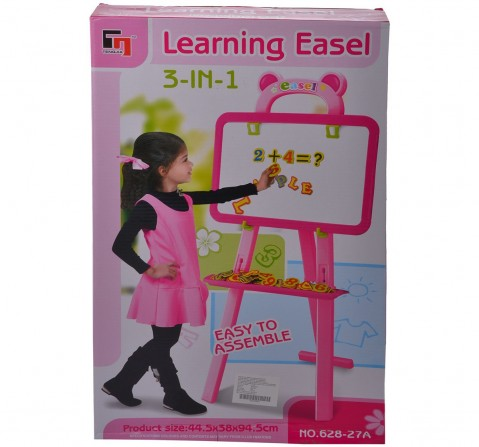 Comdaq Easel with Magnetic Letters Activity Set for Girls age 3Y+ (Pink)