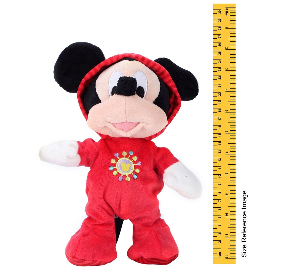 """Disney Mickey Cheeky In Rompersuit 10"""" Soft Toy for Kids age 1Y+ (Red)"""