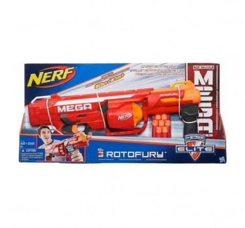 Nerf Mega Rotofury Blaster -- 10-Dart Rotating Drum --  age 8Y+