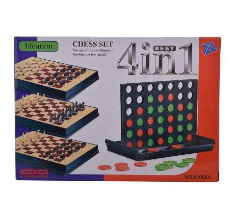 Comdaq 4 In1 Magnetic Board Game, 4Y+