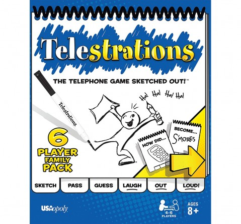 Funskool Telestrations, Multi Color Board Games for Kids age 8Y+
