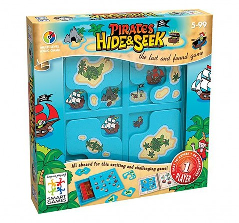 Smart Games Pirates Jr. Hide & Seek for Kids age 6Y+ (Blue)