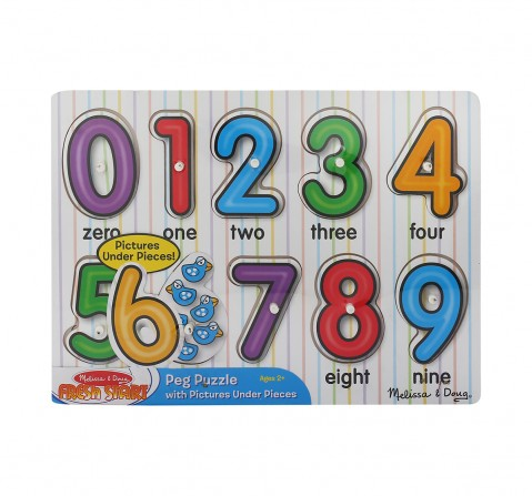 Melissa & Doug See-Inside Numbers Peg Wooden Toys for Kids age 24M+