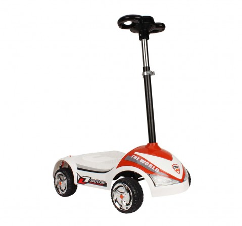 Megawheel Kids Scooty White Novelty Rideons for Kids age 3Y+