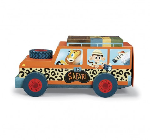 Crocodile Creek Playset - Safari - 24 Pcs Puzzles for Kids age 3Y+