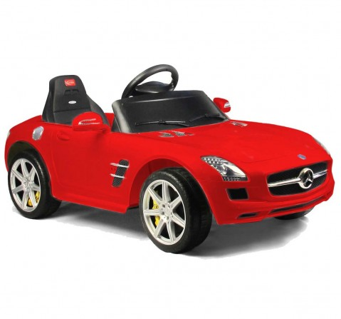 Chilokbo Red Mercedes Benz SLS AMG Battery Operated Ride-on Car Battery Operated Rideons for Kids age 18M +