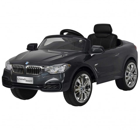 Chilokbo BMW 4 Series Coupe Battery Operated Ride-on Car Battery Operated Rideons for Kids age 18M + (Grey)