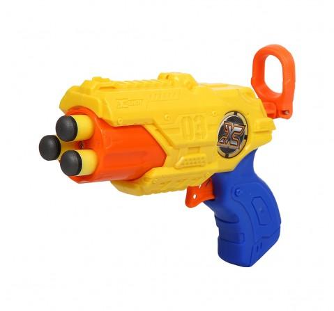 X-Shot Barrel Breaker Blaster Gun Tk-3 With 6 Darts, White Blasters for Kids age 8Y+ (Yellow)