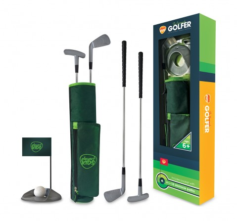 Playnxt The Homemade Golfer Set Indoor Sports for Kids age 6Y+ (Silver)